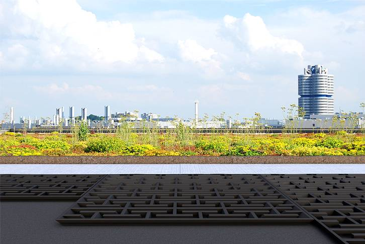 Water discharge delay with meander board Munich, 2014