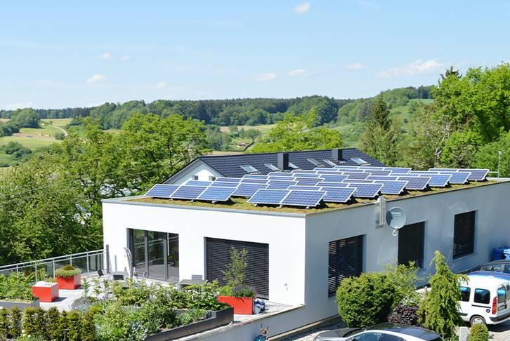 Solar Green Roof OPTIGRÜN headquarters Göggingen